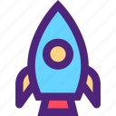 art, education, learning, rocket, science, wisdom icon