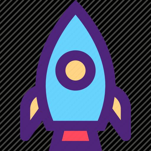 art, education, learning, rocket, science, wisdom icon