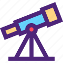 art, education, learning, science, telescope, wisdom icon