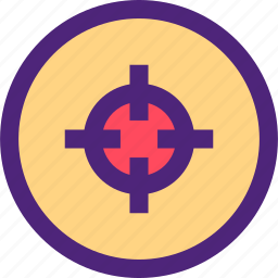 action, athletics, game, recreation, shooting, sports, target icon