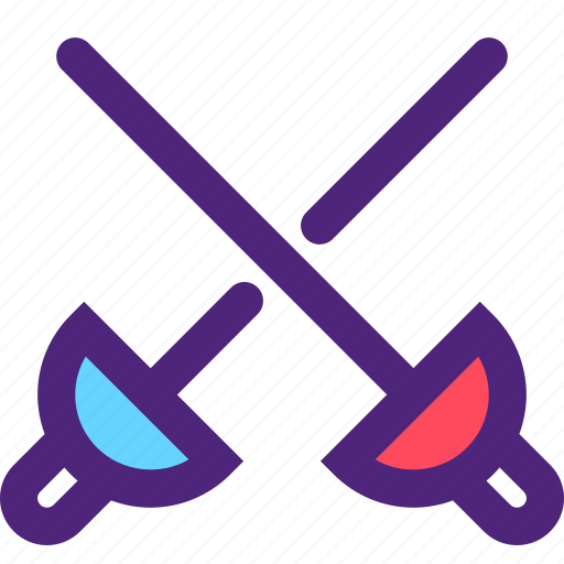 action, athletics, fighting, game, recreation, sports, sword icon