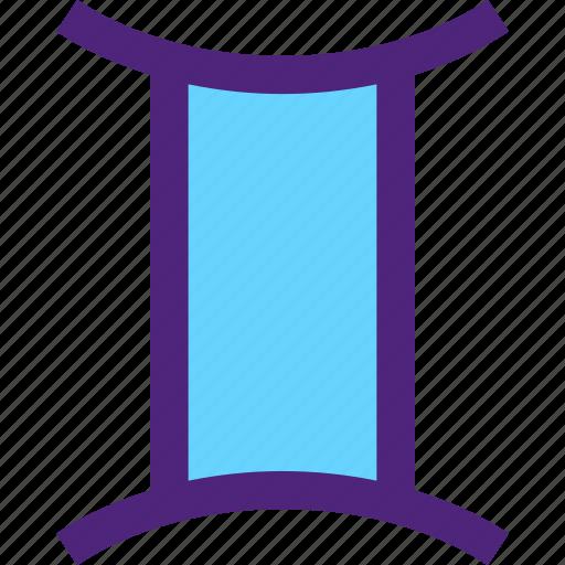 astrology, badge, emblem, figure, gemini, mark, symbols icon