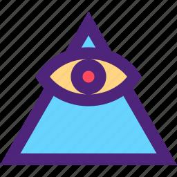 badge, elite, emblem, figure, illuminati, mark, symbols icon