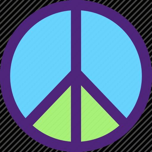 badge, emblem, figure, mark, peace, symbols icon