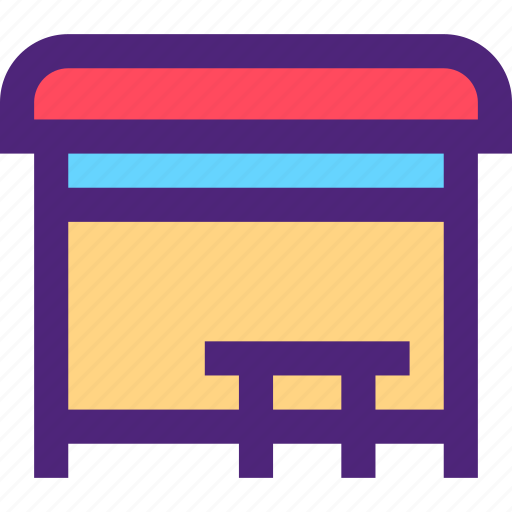 bus, carrier, freight, shipping, station, transit, transport icon