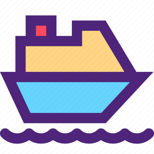 carrier, cruise, freight, ship, shipping, transit, transport icon