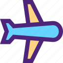 carrier, freight, plane, shipping, transit, transport icon