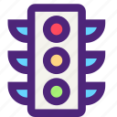 carrier, freight, light, shipping, traffic, transit, transport icon