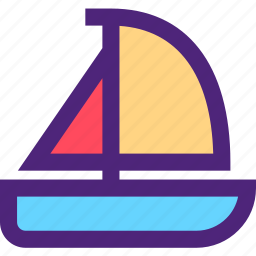 boat, expedition, sailing, tour, travel, trip, voyage icon