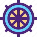 expedition, ship, tour, travel, trip, voyage, wheel icon