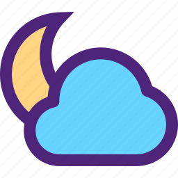 climate, clime, cloud, earth, moon, nature, weather icon