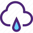 climate, clime, cloud, drop, earth, nature, rain, weather icon