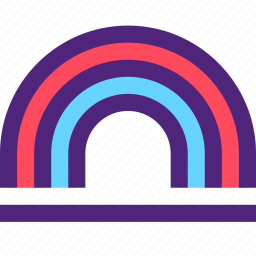 climate, clime, earth, nature, rainbow, weather icon