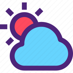 climate, clime, cloud, earth, nature, sun, weather icon