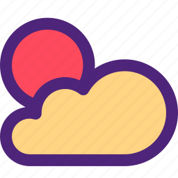 climate, clime, cloudy, earth, nature, sun, weather icon