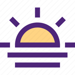 climate, clime, earth, nature, sunset, weather icon