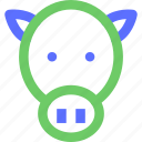 animals, beast, bull, cow, earth, nature, wild icon