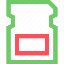 card, computers, digital, electronic, gadget, intelligence, mico, sd icon