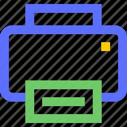 computers, digital, electronic, gadget, intelligence, printer icon