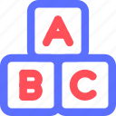 abc, cubes, culture, education, learn, science, training icon