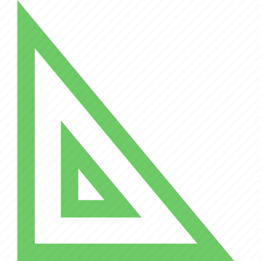 culture, education, learn, ruler, science, training, triangle icon