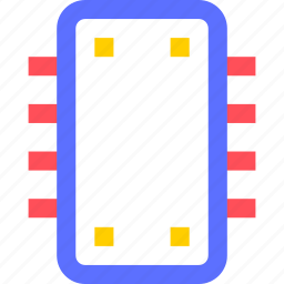 chipset, devices, electronics, gadgets, systems, technology icon