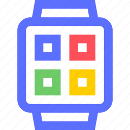 devices, electronics, gadgets, smartwatch, systems, technology icon