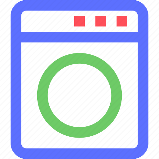 devices, electronics, gadgets, machine, systems, technology, washing icon