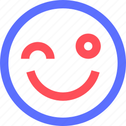 chat, cute, emoji, emoticons, face, social, wink icon