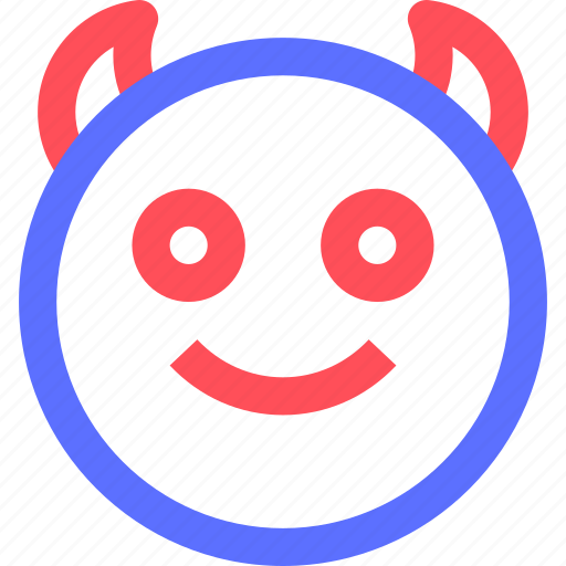 chat, devil, emoji, emoticons, face, social icon