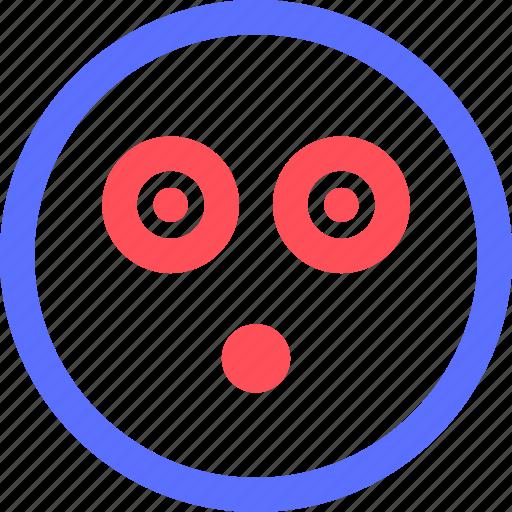 chat, emoji, emoticons, eyes, face, shocked, social icon
