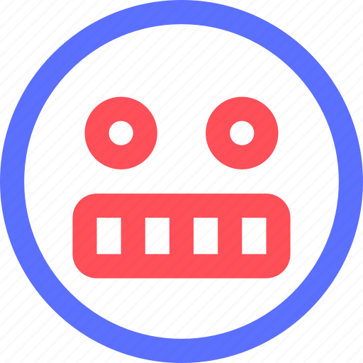 chat, emoji, emoticons, face, grumpy, shocked, social icon