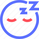 chat, emoji, emoticons, face, sleeping, social icon