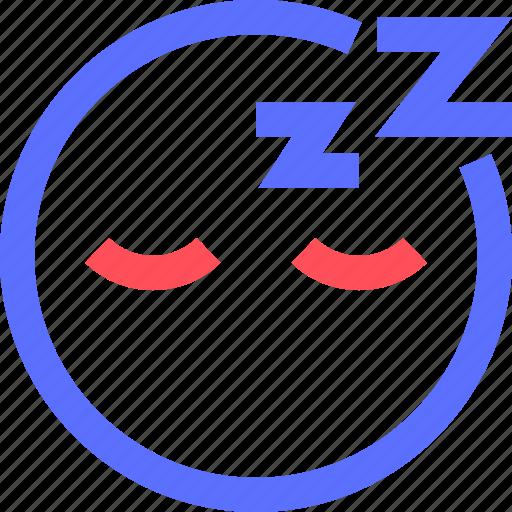 chat, emoji, emoticons, face, sleeping, social icon
