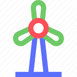 earth, ecology, efficiency, electricity, energy, turbine, wind icon