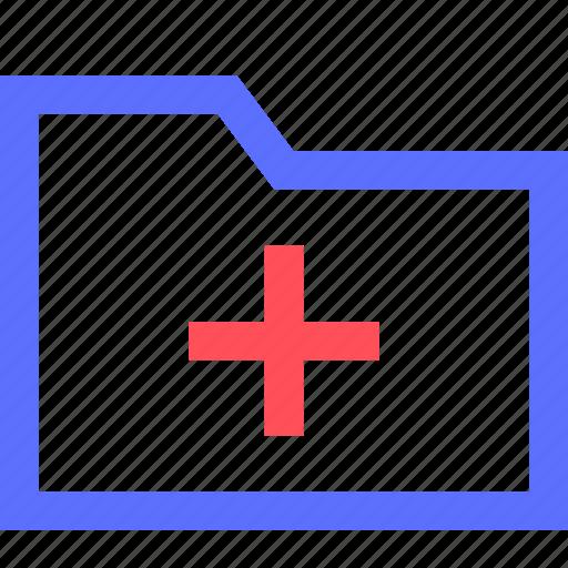 add, archive, computer, digital, files, folder, interface icon