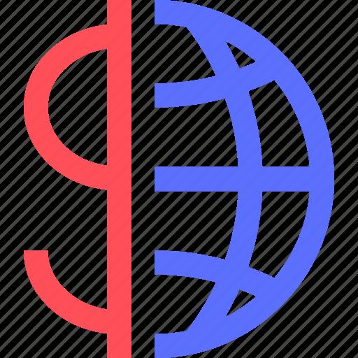 business, commerce, economics, economy, finance, global, money icon