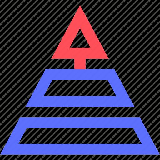 business, commerce, economics, finance, growth, money, pyramid icon