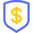 business, commerce, economics, finance, money, security, shield icon
