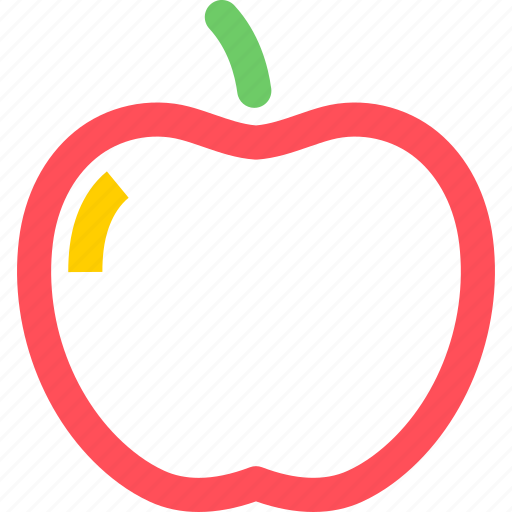 apple, cooking, diner, food, meal, snack icon