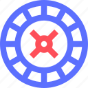 entertainment, fun, games, play, recreation, roulette, wheel icon