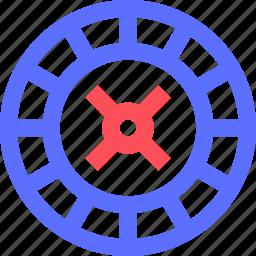 entertainment, fun, games, play, recreation, roulette, wheel icon