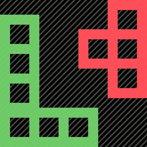 entertainment, fun, games, play, puzzle, recreation, tetris icon
