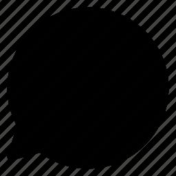 arrow, arrows, bubble, chat, communication, creative, grid, message, mobile, shape, talk icon