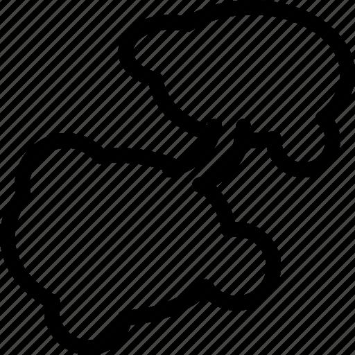 bubble, chat, comic, comment, communication, creative, grid, line, message, mobile, shape, speech, talk icon