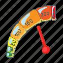 car, cartoon, meter, mileage, power, speed, speedometer icon