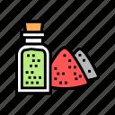 condiment, green, heap, herb, pepper, red