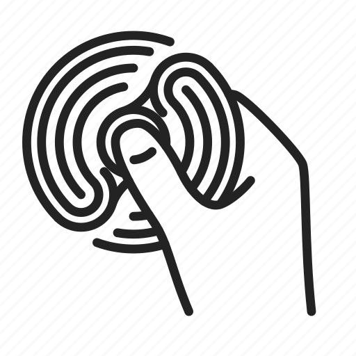 fidget, hand, spinner icon