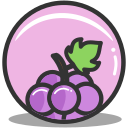 food, grape, nutrition icon