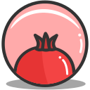 food, health, mythology, pomegrante icon